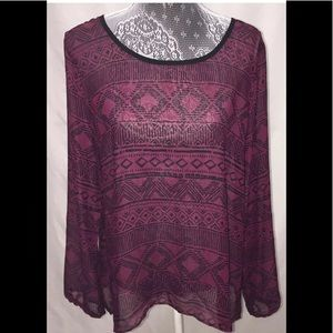 Charming Charlie Tunic Top Size Large